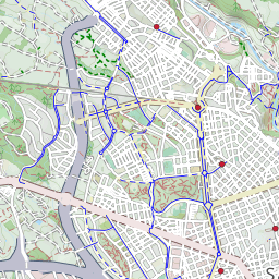 Map of bike lanes in Sabadell