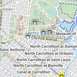 NOLA Bicycle Map - uMap on